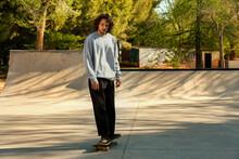 Skater Man In Urban Park