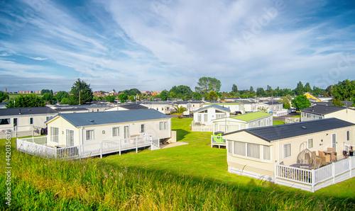 Photo Static caravan homes in a caravan park in England