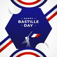 Happy Bastille Day Background Design