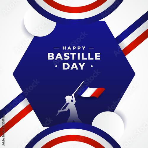 Obraz na plátně Happy Bastille Day Background Design