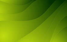Abstract Wavy Green With Luxury Gold Lines Background