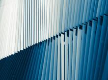 Metal Pattern Architecture Detail Modern Building Facade Shade Lighting