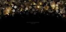 Glitter Background, Luxury Gold Stardust Light