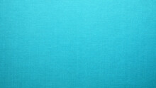 Turquoise Blue Cloth Texture Background. Simple Pattern Textile Surface Closeup