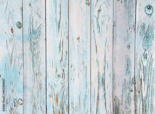 Fototapeta Ancient wooden planks with cracked paint