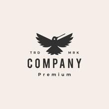 Hummingbird Colibri Roar Hipster Vintage Logo Vector Icon Illustration
