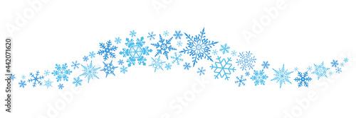 Carta da parati 様々な種類の雪の結晶の罫線のベクターイラストアイコンセット(背景,クリスマス,X'mas)