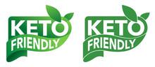 Keto Friendly Green Sticker - Badge With Leaf