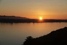 Sunrise On The Mekong River In Nakhon Phanom Province, Thailand.