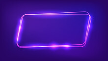 Neon Double Frame With Shining Effects