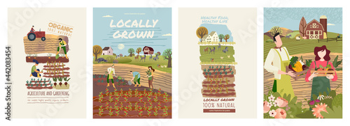 Obraz na plátně Organic farming, agriculture and gardening