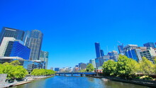 City Of Melbourne On A Summer Day, Australia