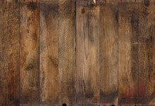 Vintage Wood Background Texture. Old Weathered Rough Planks, Evenly Sharp And Detailed Backdrop.
