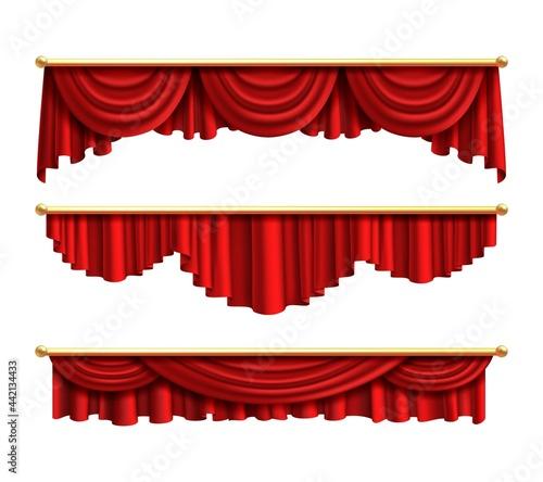 Obraz na plátně Red curtains