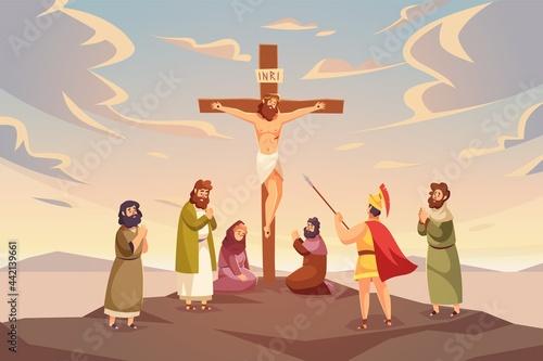 Christ crucifixion Fototapet
