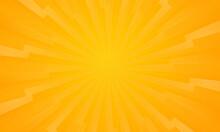 Orange Gradient Ray Burst Dot Style Background Vector Design