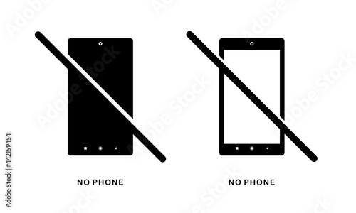 Canvas Print No mobile phone. Turn off phone icon. Illustration vector