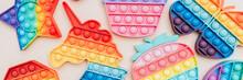 Rainbow Pop It Bubble Sensory Fidget Toys