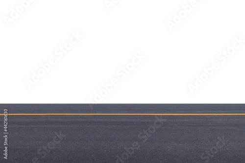 Fotografie, Obraz asphalt road isolated on white background