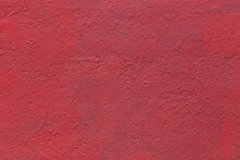 Background And Texture Of Flat Thick Painted Matte Red Surface Under Direct Sunlight