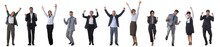 Business People Raising Arms