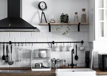 Cocina Blanca Vintage Blanca Y Negra