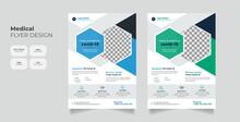 Coronavirus Or COVID-19 Medical Health Flyer Design Template