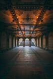 Under Bethesda Terrace, in Central Park, Manhattan, New York City