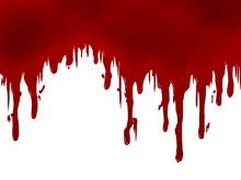 壁から垂れる血