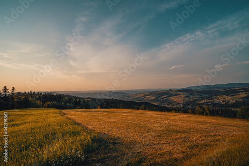 Zachód słońca w Beskidzie Niskim