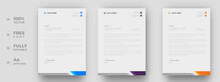 Corporate Modern Letterhead Design Template With Yellow, Blue And Purple Color. Creative Modern Letter Head Design Template For Your Project. Letterhead, Letter Head, Simple Letterhead Design.