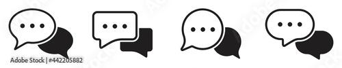 Fotografie, Obraz chat message icon set, Chat speech bubble, Social media message