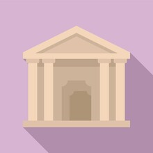 Theater Building Icon Flat Vector. City Theatre