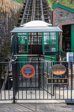 Lynton To Lynmouth Cliff Railway. Victorian Water Powered Funicular Railway Built In 1888