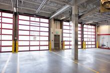 Empty Storage Facility Loading Dock