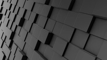 3D Render Of Gray Rectangles On Different Layers For Textural Backgrounds