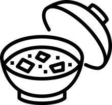 Miso Soup Outline Icon