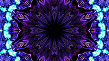 Seamless Pattern Of Glowing Blue And Purple Circular Shapes On A Black Background