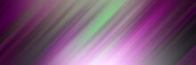 Abstract Green And Purple Diagonal Strip Lines Against A Blurred Background