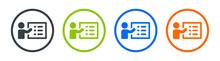 Person Explaining List Of Tasks Icon Vector Illustration. Presentation Concept