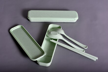Eating Set, Including Spoon, Fork And Chopstick
