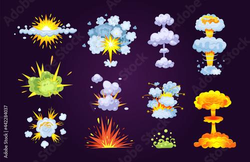 Fototapeta Colorful bomb explosion