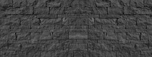Black Anthracite Gray Grey  Natural  Lava Basalt Stone Wall Texture, With Wild Bandage, Privacy Wall Texture Background Banner Panorama