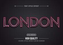 Editable Text Effect - Word London. London Text Effect Design Vector