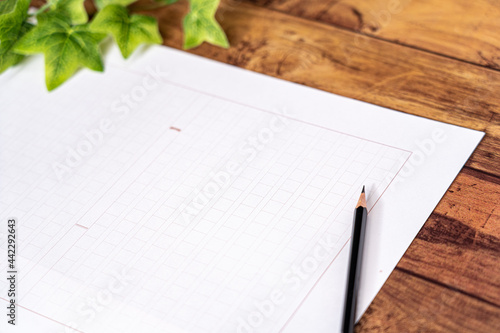 Obraz na plátně 原稿用紙と鉛筆