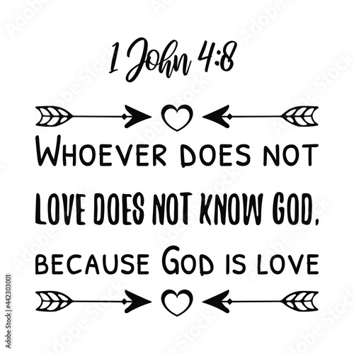 Photo Whoever does not love does not know God, because God is love