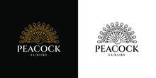 Peacock Classic Luxury Logo Monoline