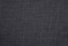 Black Grey Linen Fabric Cloth Texture For Background, Natural Textile Pattern.