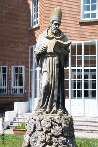 Wallpaper Mural BURGOS, SPAIN - June 29, 2021: Stone statue of St