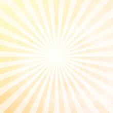 White And Yellow Sunburst Pattern Background. Rays. Sunburst Background. White And Yellow Radial Background.